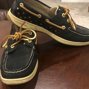 Sperry Shoes - Sperry Bluefish Black/gold dot boat shoe